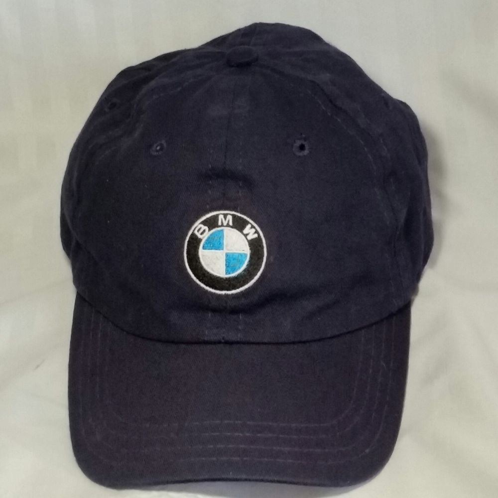 new styles 8a329 873f2 BMW Lifestyle Baseball Cap Navy Blue Adjustable 6 Panel Made in USA   Unbranded