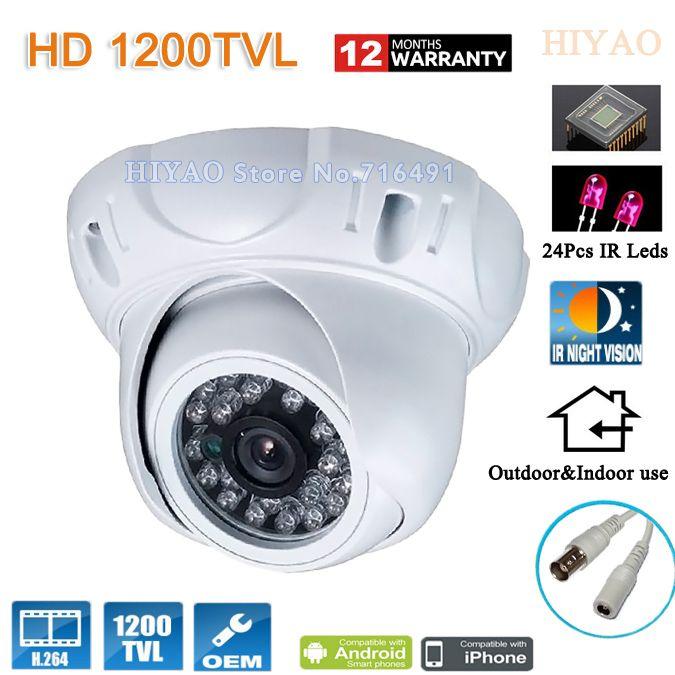 1200TVL HD 1/2.5\'\'CMOS 1200TVL Security Camera 24 LED Color IR Night ...