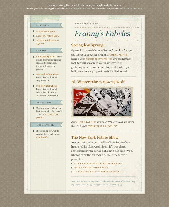 40 Best Email Newsletter Templates Html Psd Free Download Paper