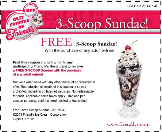 photograph about Friendly's Ice Cream Coupons Printable Grocery titled Pin as a result of Friendlys coupon codes upon Friendlys coupon codes Printable