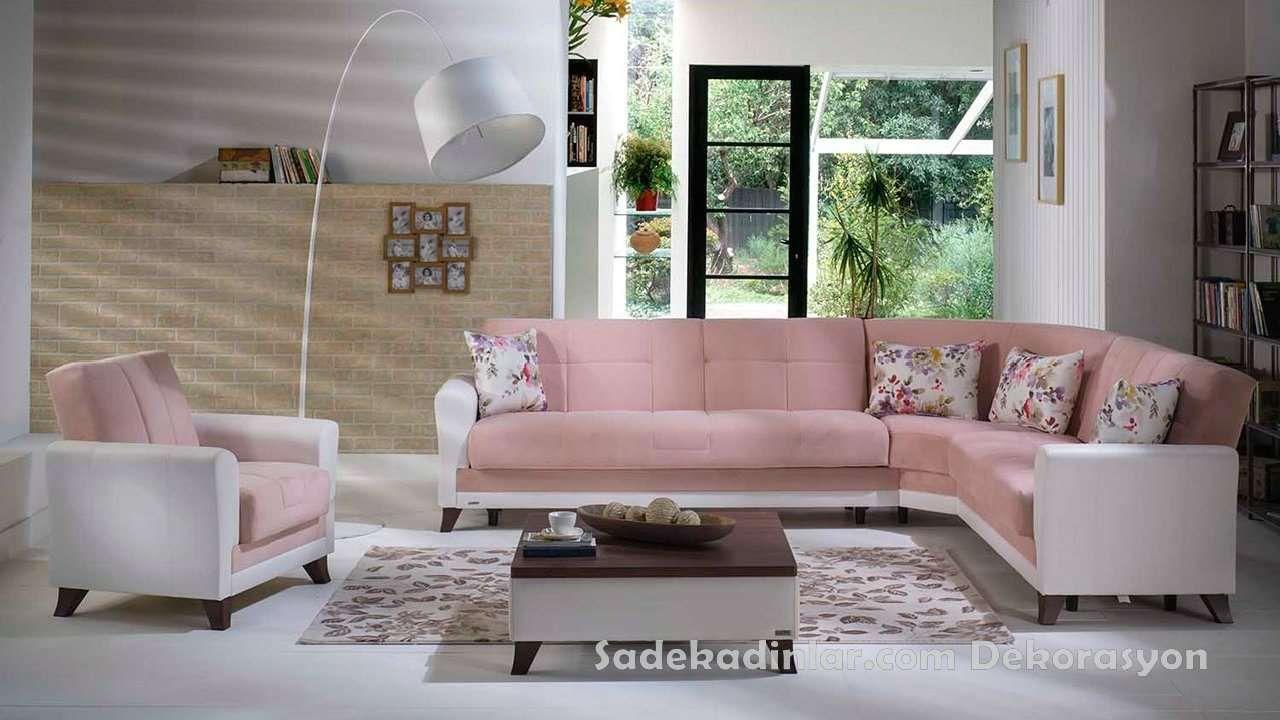 Toz Pembe Sik Ve Modern Kose Takimlari Koltuk Takimlari Sofa Set Ev Dekoru Ev Dekorasyonu Mobilya
