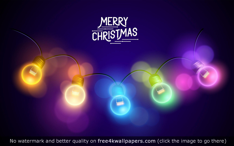 Merry Christmas Lights HD Wallpaper