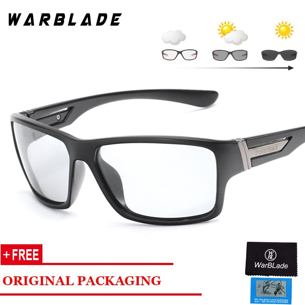 Mens photochromic polarized sunglasses antiuv driving