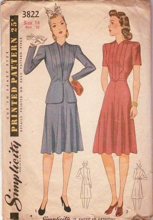 Vintage Kleidungsmuster