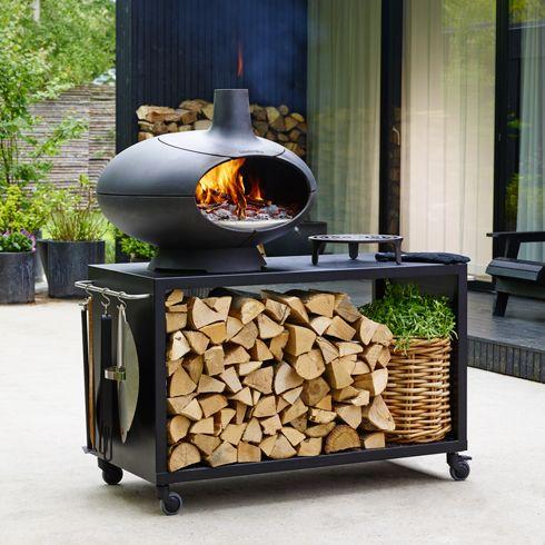 Gartenofen \u2013 Morsø Forno aus emailliertem Gusseisen aus der - edelstahl outdoor küche