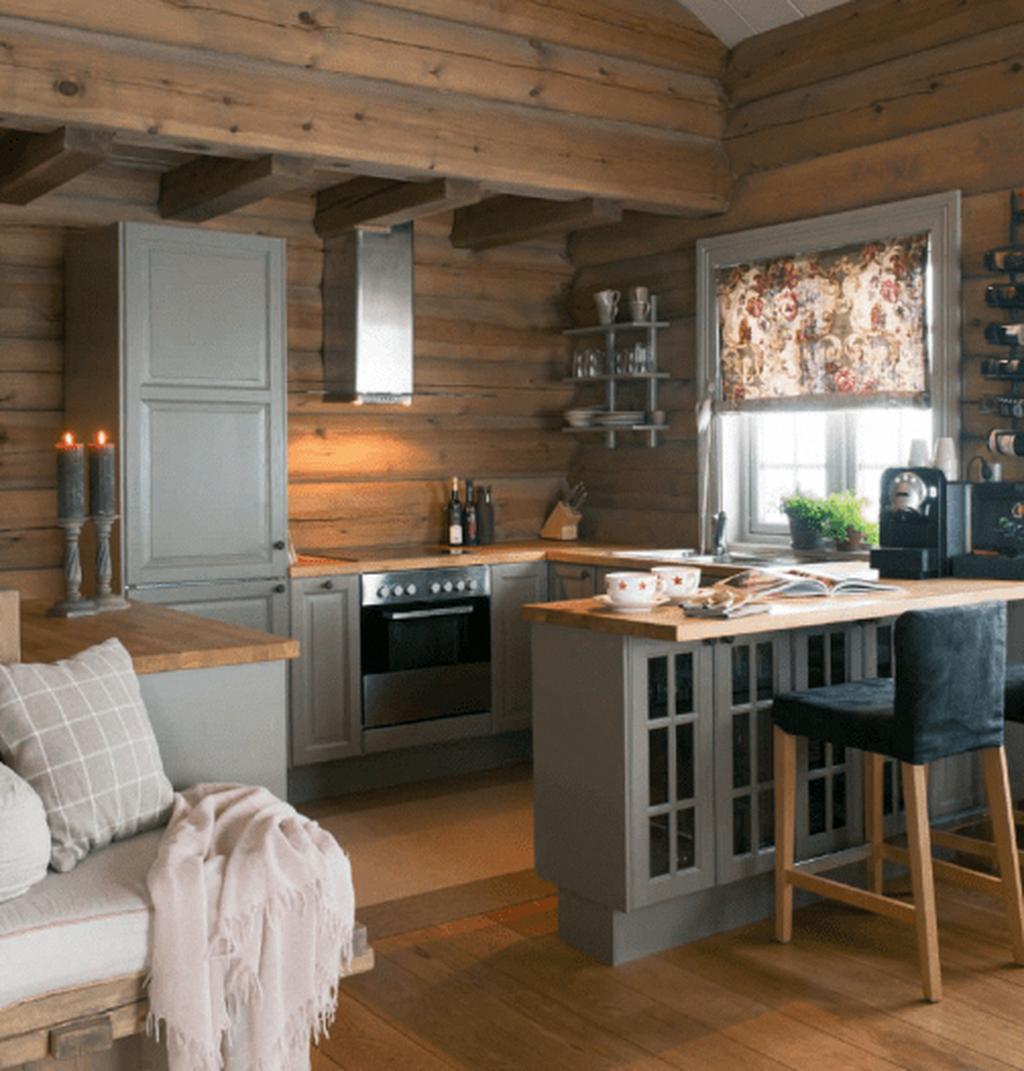 50 Best Small Log Cabin Homes Interior Decor Ideas In 2020