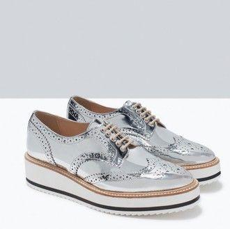 Lace Girl Zara Platform Shoes Up Silver Fashion White CdoxeB