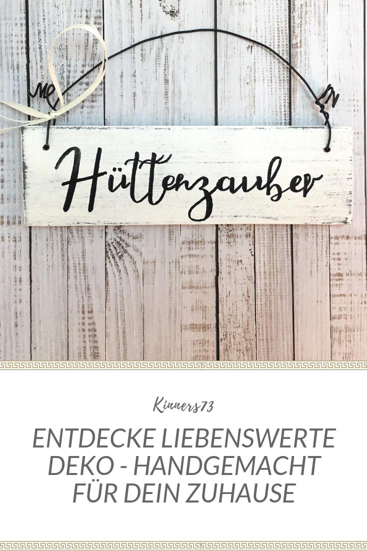 """Holzschild """"Hüttenzauber"""" – verwandelt dein Zuhause in eine kuschelige Hütte. #weihnachtsmarktideenverkauf"""