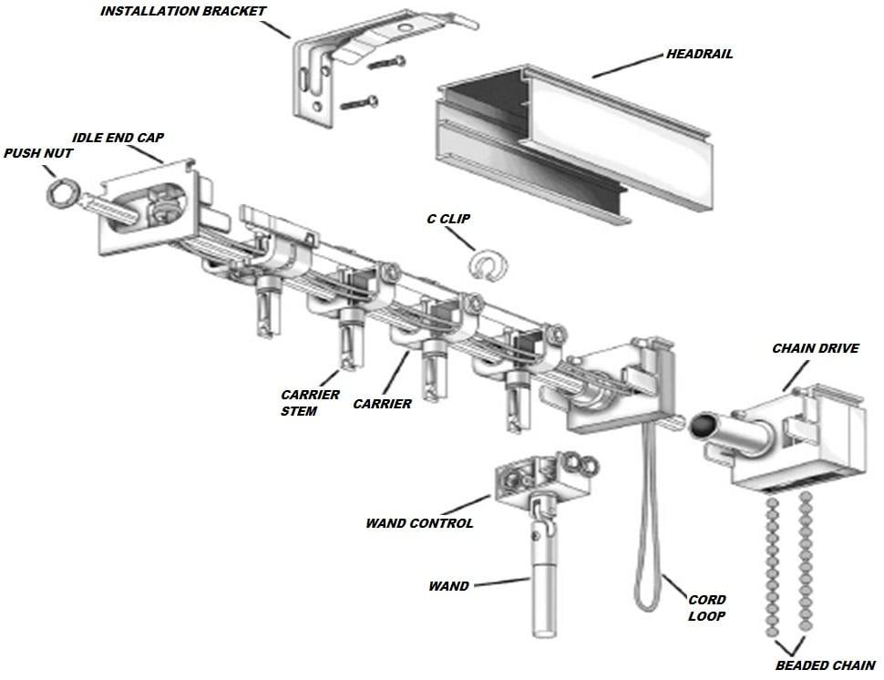 Vertical Blind Repair Parts Fix Your Vertical Blind Today Blindparts Com In 2020 Blind Repair Vertical Blinds Vertical Blinds Curtains
