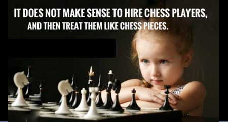 Don T Hire Professionals Just To Tell Them Exactly How To Do Things Smart People Employee Quotes Bad Leadership