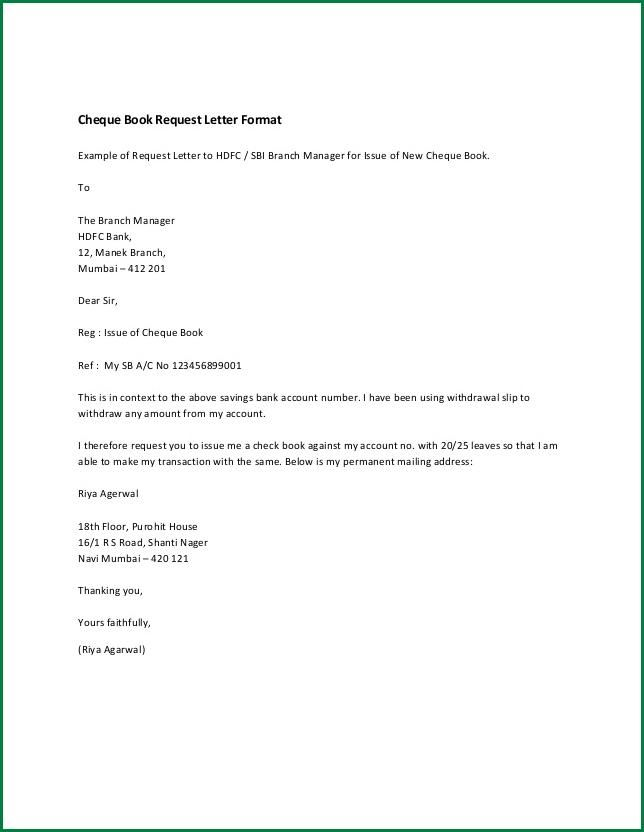Ideas Collection Business Letter Format To Bank Manager On