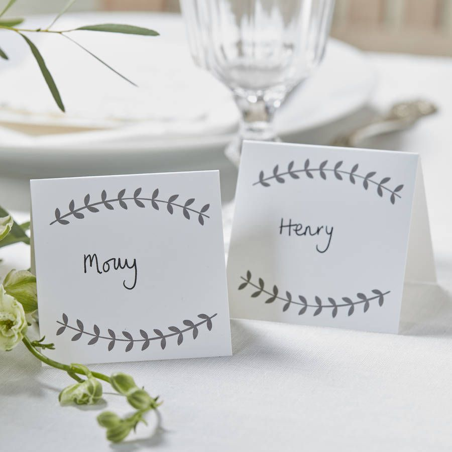 Vintage Boho Wedding And Party Place Cards   Place cards, Cards and ...