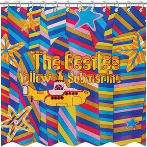 Beatles Yellow Submarine Shower Curtain For The Home In 2019 Cool Shower Curtains Yellow Submarine Bathroom Shower Curtains