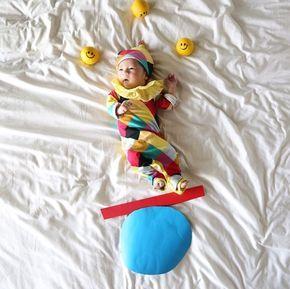 Fotos de bebê fofíssimas, em cenários que você faz em casa!