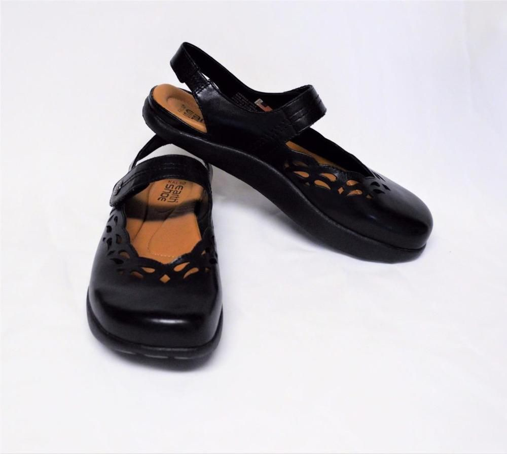 9ba71d114f NEW Kalso Earth Move 8.5M Mary Jane Shoes Black Leather Negative Heel Open  Back  KalsoEarthShoe  MaryJaneswOpenBack  WeartoWork