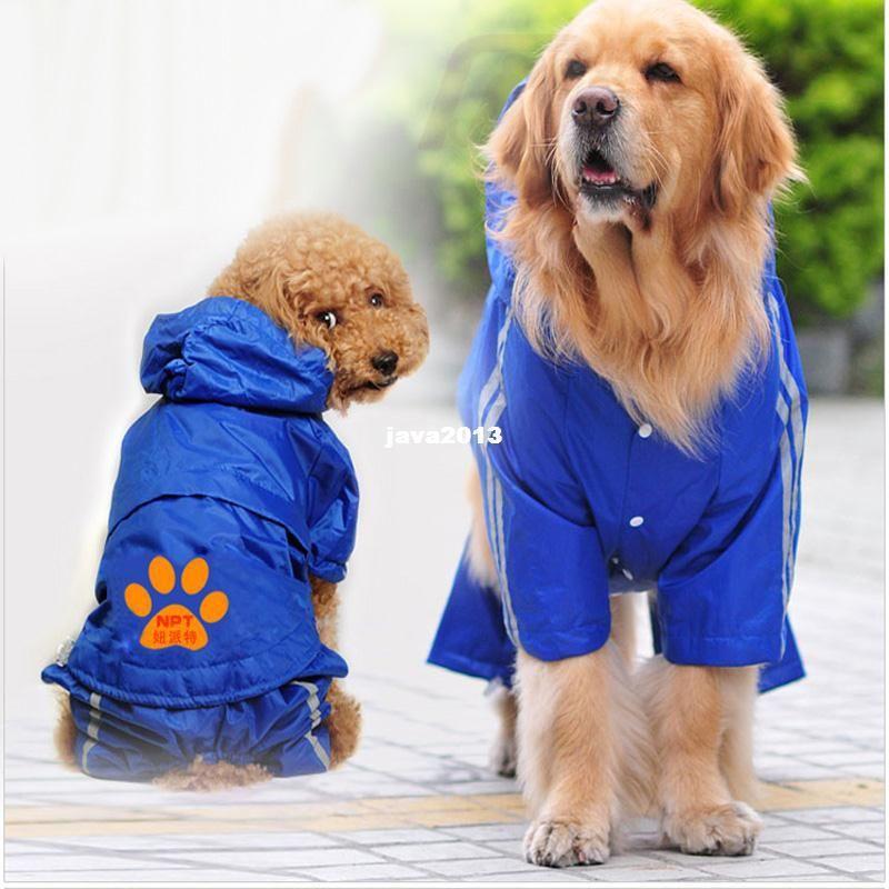 Fashion Big Plus Size Pet Dog Golden Retriever Clothes Raincoat