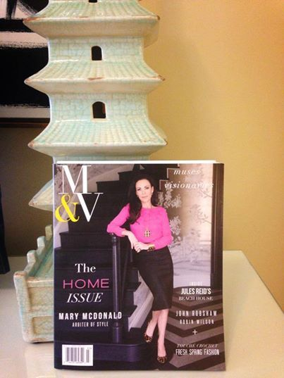 M V Magazine With Mary Mcdonald On Display At Palmbeach Mecox