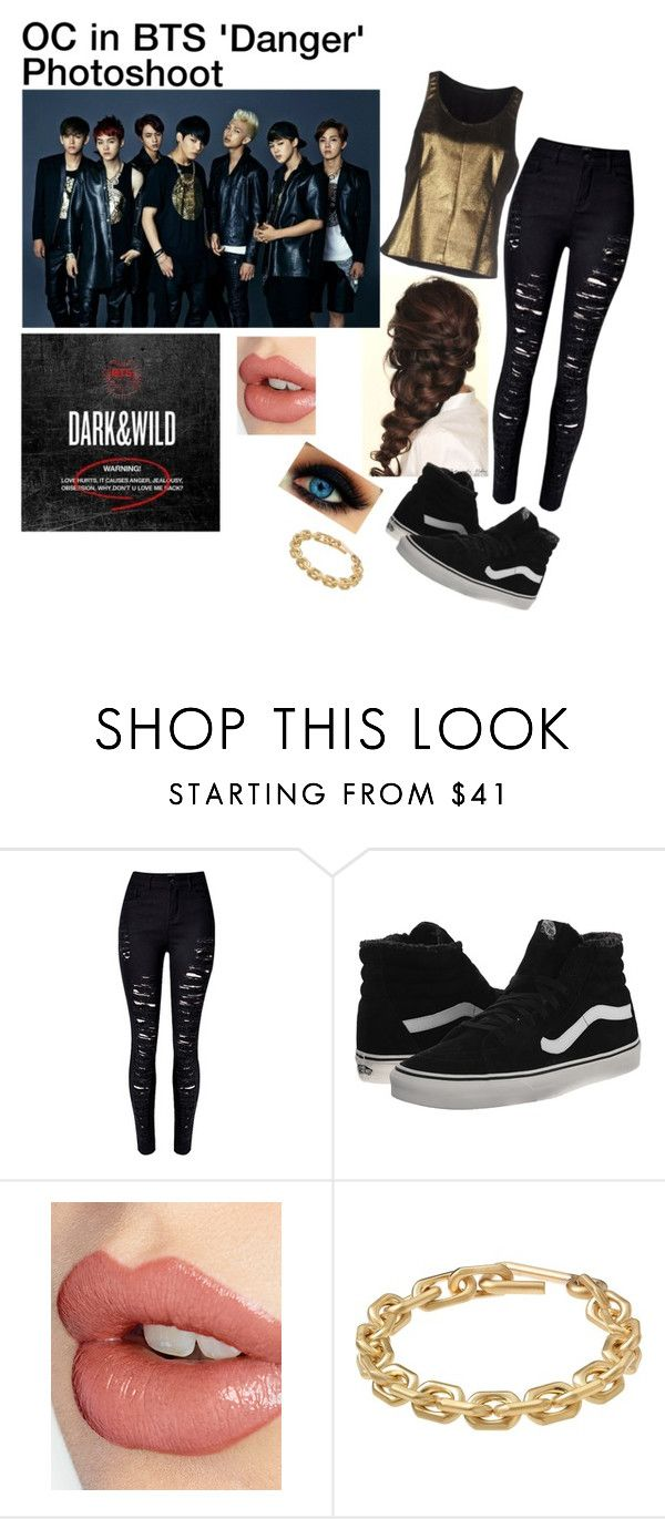 """OC in BTS 'Danger' Photoshooot"" by cbwilliams2002 on Polyvore featuring Disney, WithChic, Vans, Charlotte Tilbury, Calvin Klein and Silvian Heach"