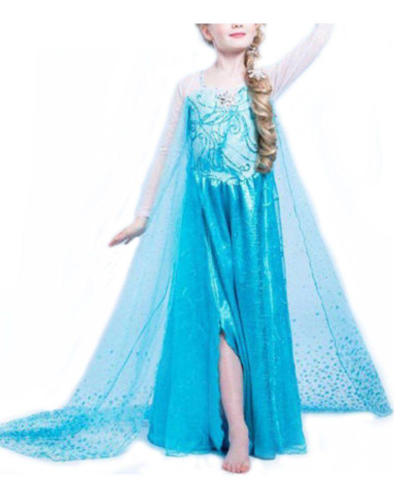 Vogueeasy Prinzessin Frozen Eiskönigin Kostüm Kinder Glanz Kleid ...