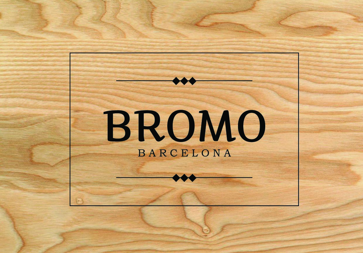 Logo BROMO Barcelona, casual bags and leather goods, hand-made in Barcelona