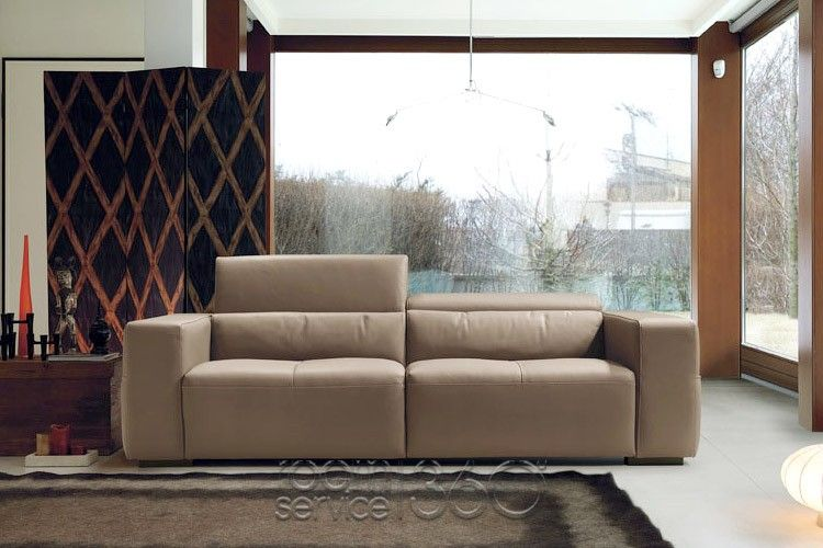 Olimpo Italian Modern Leather Sofa by Contempo Sitting