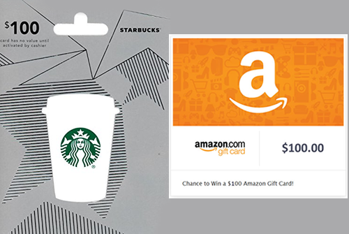 Exclusive Starbucks Amazon Gift Cards Sweepstakes Gift Card