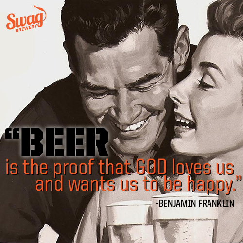 Beer makes us happy!  #CraftBeer #Funny #SwagBrewery