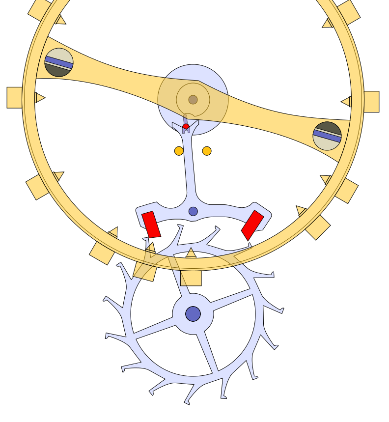 Inline Or Swiss Lever Escapement The Pallet Fork Sits Between The Escape Wheel And The Balance Wheel Its Purpose Is To L Clock Monochrome Watches Wooden Clock