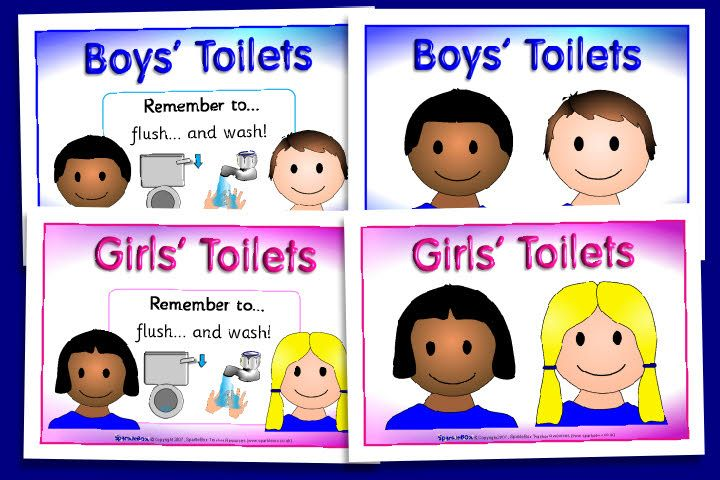 Boys And Girls Toilet Signs  Toilet Boys, School Signs, Boys-5548