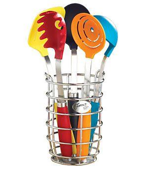Fiesta 6-Piece Multi-Color Utensil Set with Crock | Dillard's Mobile