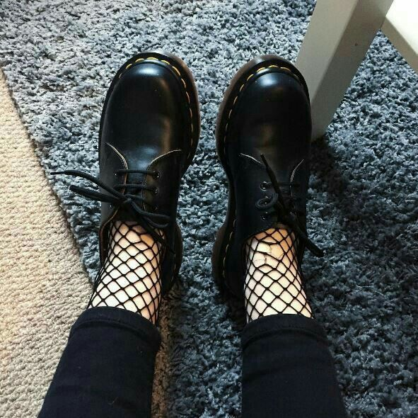 411f83a5831 Fishnet and dr Martens is perfect Combo