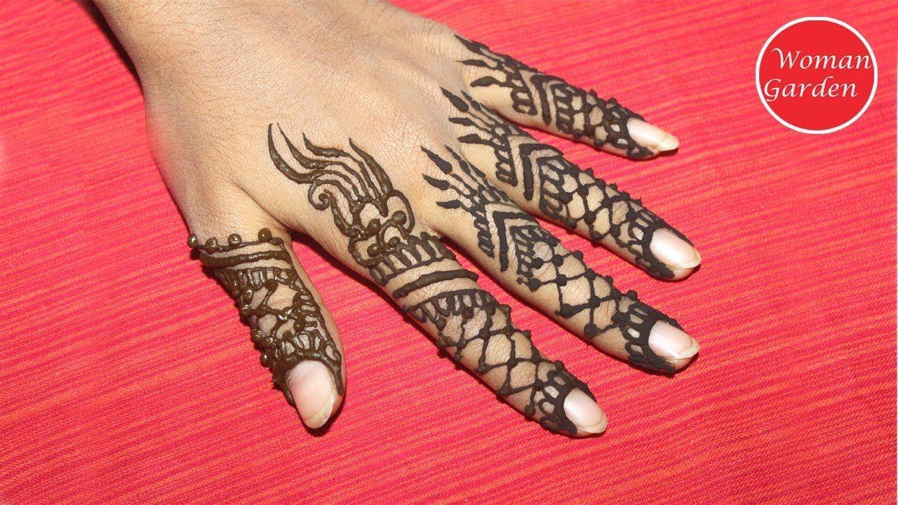 Mehndi Designs In Fingers : Easy mehndi designs for fingers woman garden design