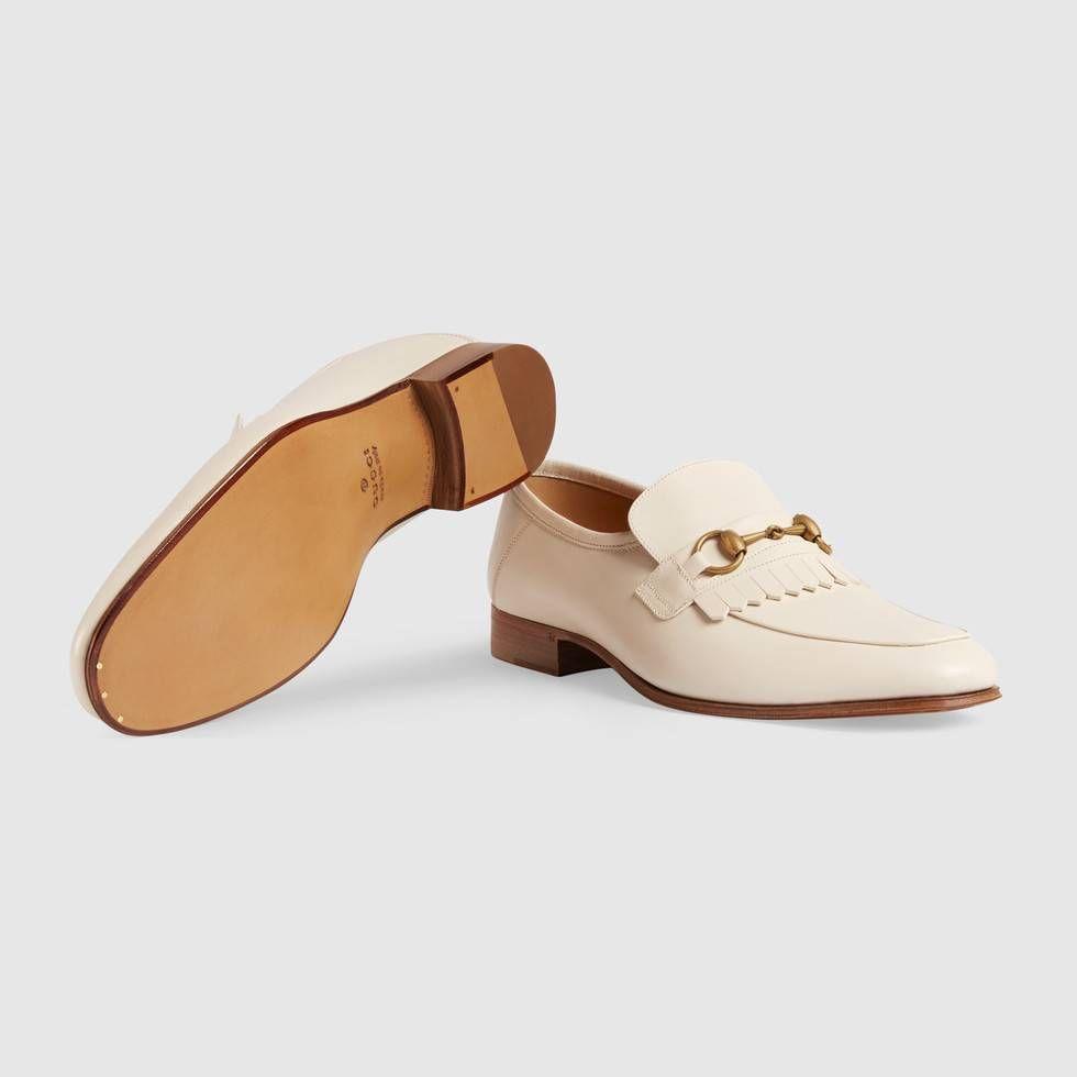 2e4bf2002f0 Gucci Leather fringe Horsebit loafer Detail 5