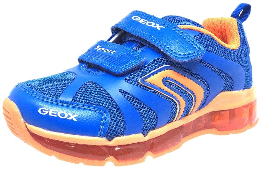 Geox ANDROID Boy Light Up Shoe Royal Blue & Orange
