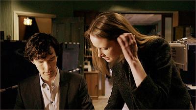 Sherlock And John S Physician Girlfriend Sarah In The Blind Banker Sherlock Season 1 Sherlock Bbc Sherlock