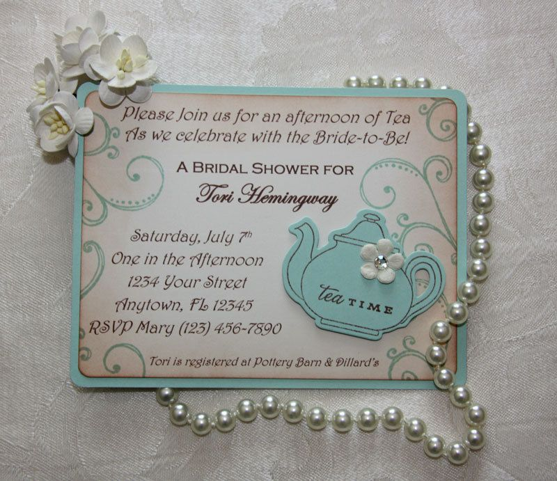 mad hatter teparty invitations pinterest%0A Bridal Tea Party Invitations