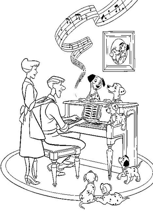 101 Dalmatians | Childrens\' Coloring Pages | Pinterest | Online coloring