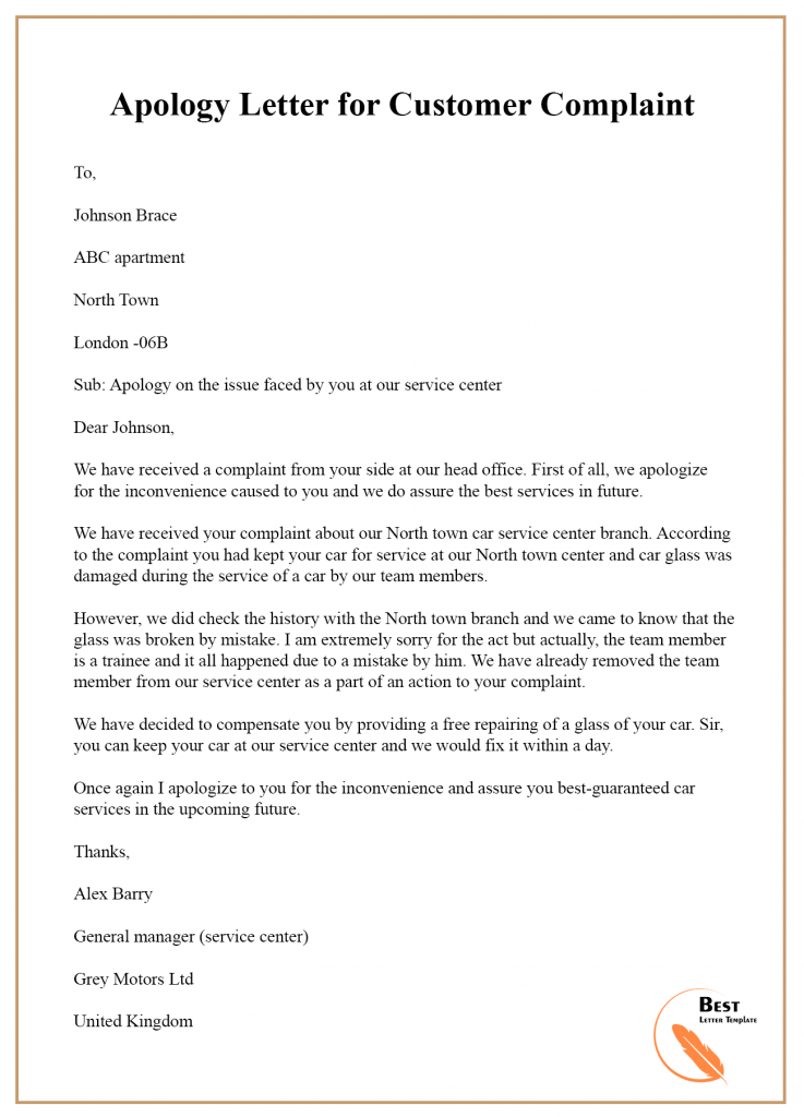 Example Of Apology Letter To Customer from i.pinimg.com