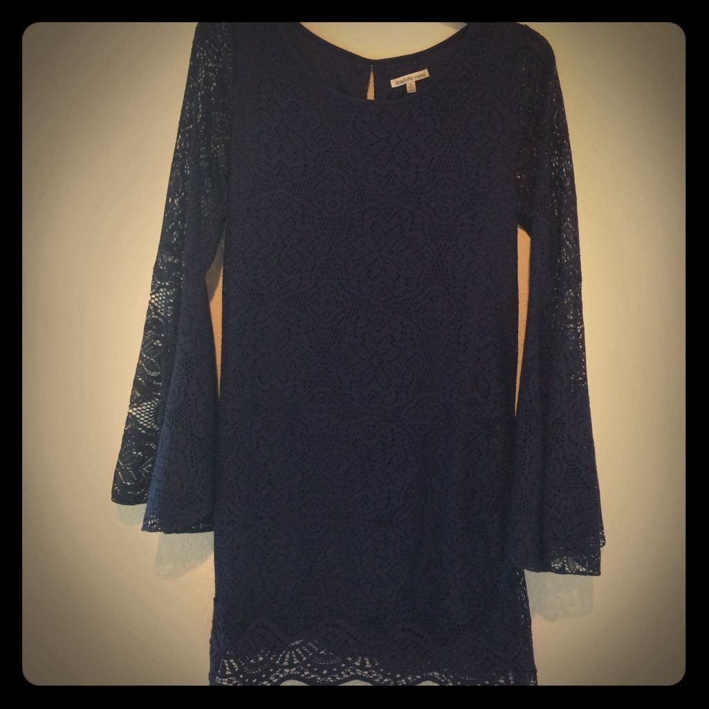 Charlotte Russe Navy Blue Lace Dress