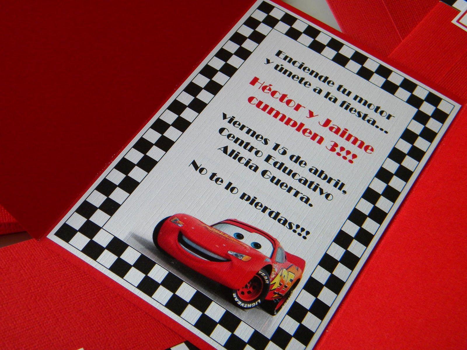 Invitaciones De Cumpleaños Cars Para Poner De Fondo 2 En Hd