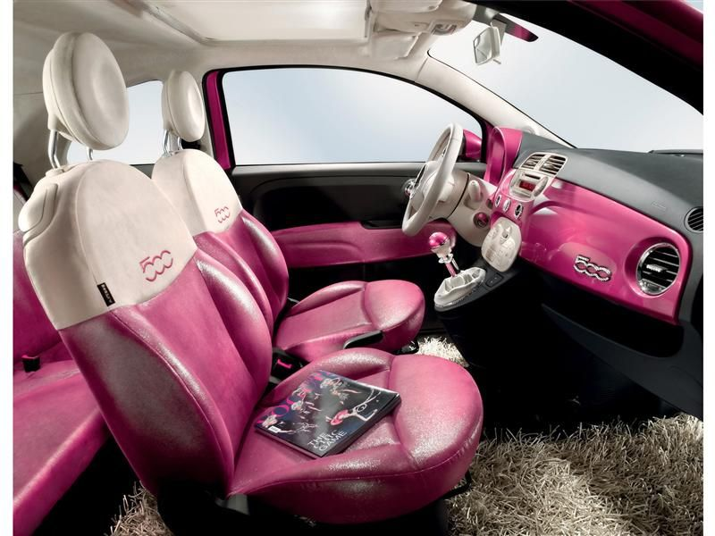 Sparkly Seats Shag Carpet Rhinestone Details Cool Wheels