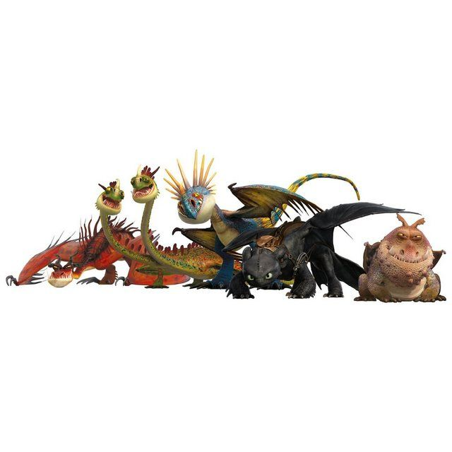 Photo of Wall sticker »Dragons dragon group«