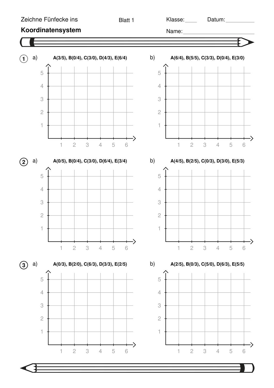 Koordinatensystem Einstiegsubung Mit Funfecken Unterrichtsmaterial Im Fach Mathematik In 2020 Koordinaten Matheunterricht Mathematikunterricht