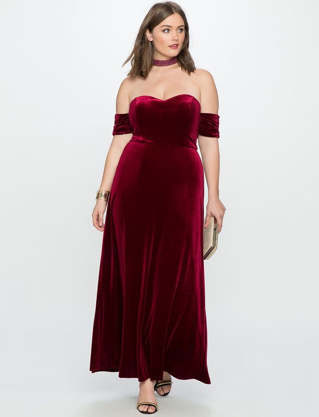 Velvet Off the Shoulder Gown from eloquii.com