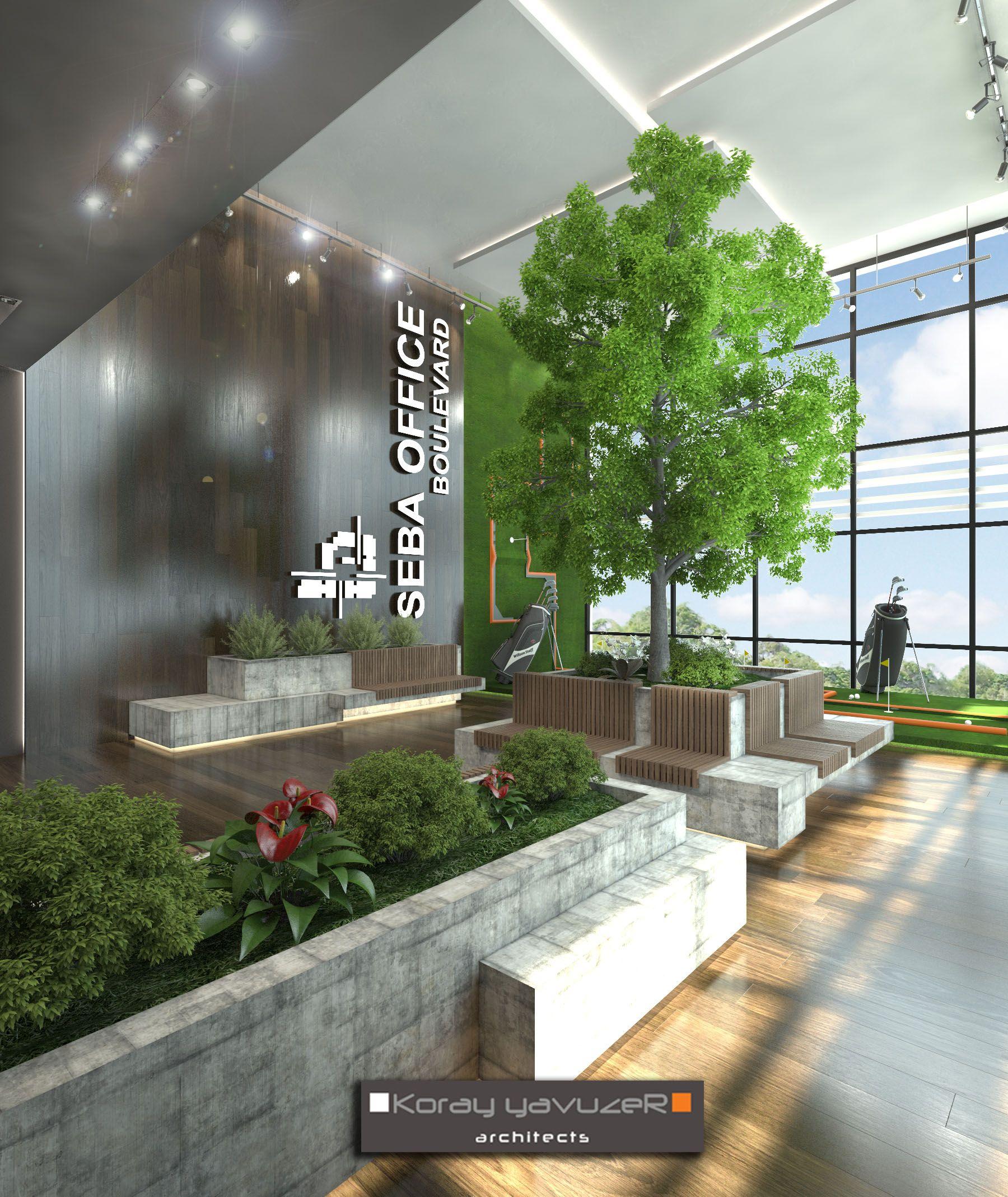 51 Modern Living Room Design From Talented Architects: Seba Office Boulvard Publıc Areas Cendere