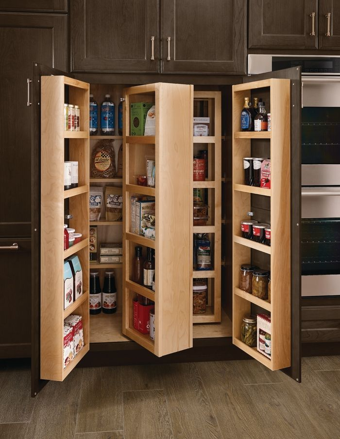 This Swing Out Pantry Packs A Walk In S Worth Of Dry Goods Into One Compact Footprint