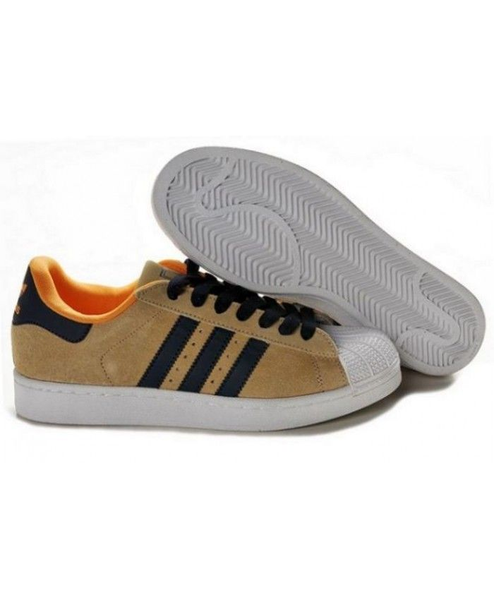 Adidas Superstar II Brown Black White Shoes  32b0d5150531