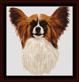Download the Other Cross-Stitch Crafting   Papillon cross stitch download #papillion #dog  #art #craft #stitch #stitching #payloadz #template #download #pattern #cross-stitch