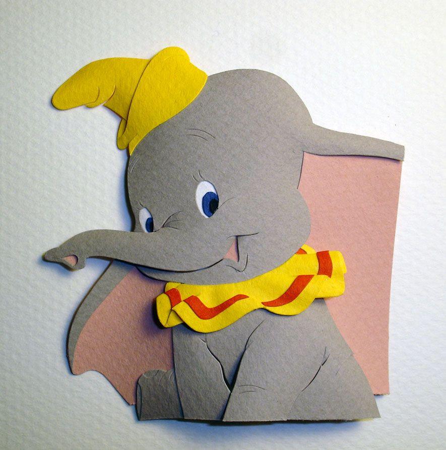 Amazing Dumbo Paper Art. Decor Ideas Art Baby