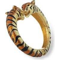 Kenneth Jay Lane Tiger Black & Tan Enamel Slip-On Bangle Bracelet$114More details
